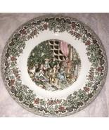 "Churchill Victorian Christmas Multicolor Salad Plate 8"" EXC England Fami... - $9.99"