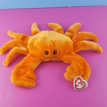 "Ty Beanie Buddy Orange Digger Crab Plush 13"" Stuffed Animal 1999 Tag Protector - $17.82"