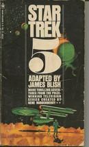 Star Trek 5 4th Print ORIGINAL Vintage 1972 Paperback Book James Blish - $9.89