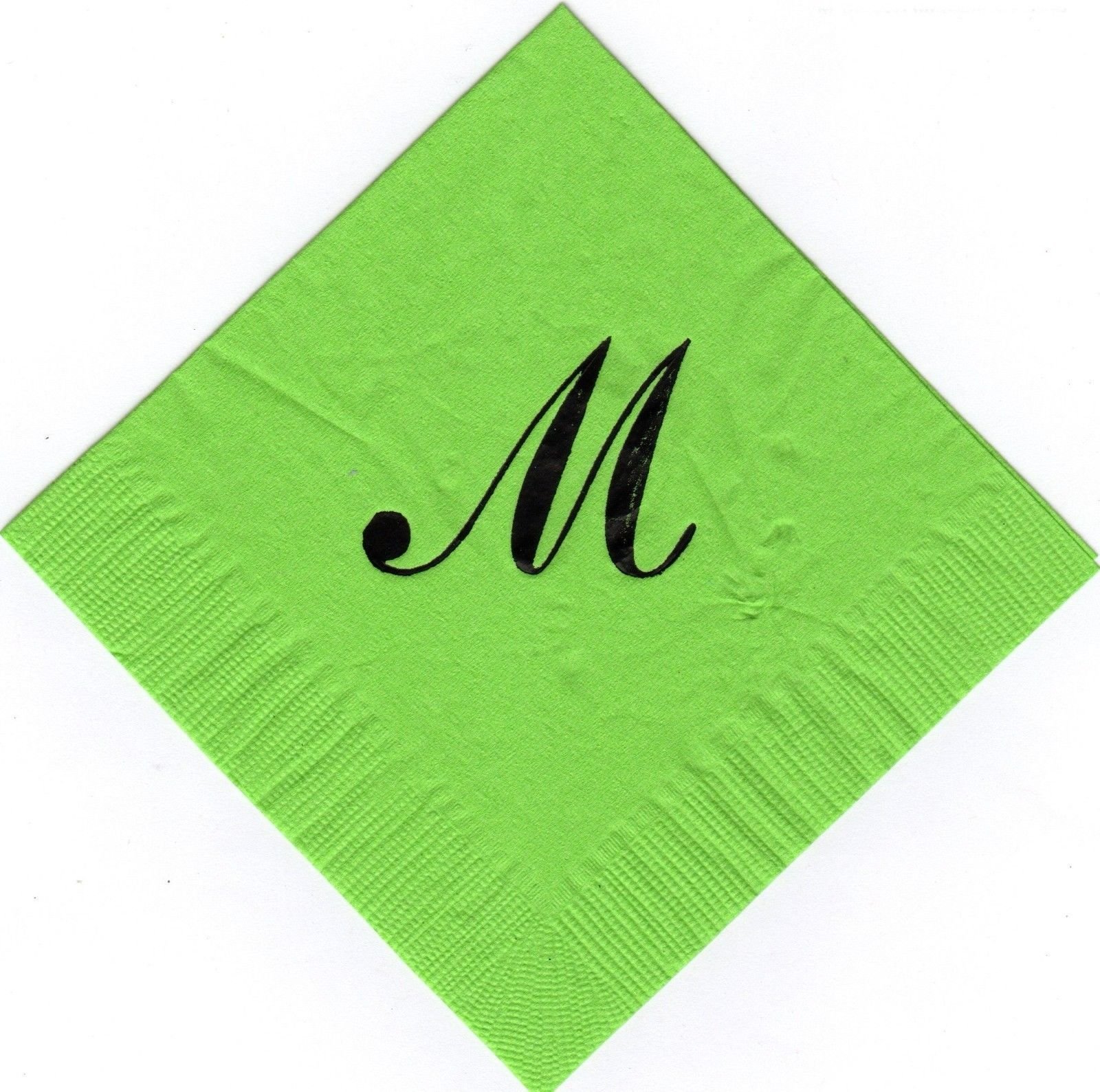 250 large Sheldon Monogram printed napkins your choice of letter and colors