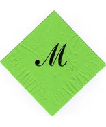250 large Sheldon Monogram printed napkins your choice of letter and colors - $39.95