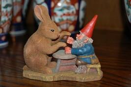 Rien Poortvliet Classic David the Gnome Rabbit Statue 2083 Ollekebolleke... - $85.82