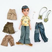 Vintage 2002 Bratz Boyz Doll Clothes Accessories Hawaiian Shirt Jeans Sh... - $86.98