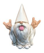 "Rocker Gnome – ""George"" – This Gnome will Rock your Fairy Garden and Gar... - $40.71"