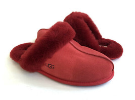 Ugg Scuffette Ii Ribbon Red Wool Shearling Lined Slippers Us 7 / Eu 38 / Uk 5 - $101.92