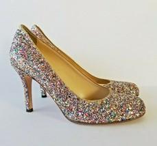 Kate Spade Karolina Italy Heels Pumps Womens Size 6 M Rainbow Glitter Sparkle - $87.07