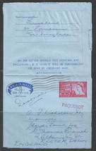 1965 British Air Letter, Paquebot Marking Ft. Lauderdale Florida letter - $5.00