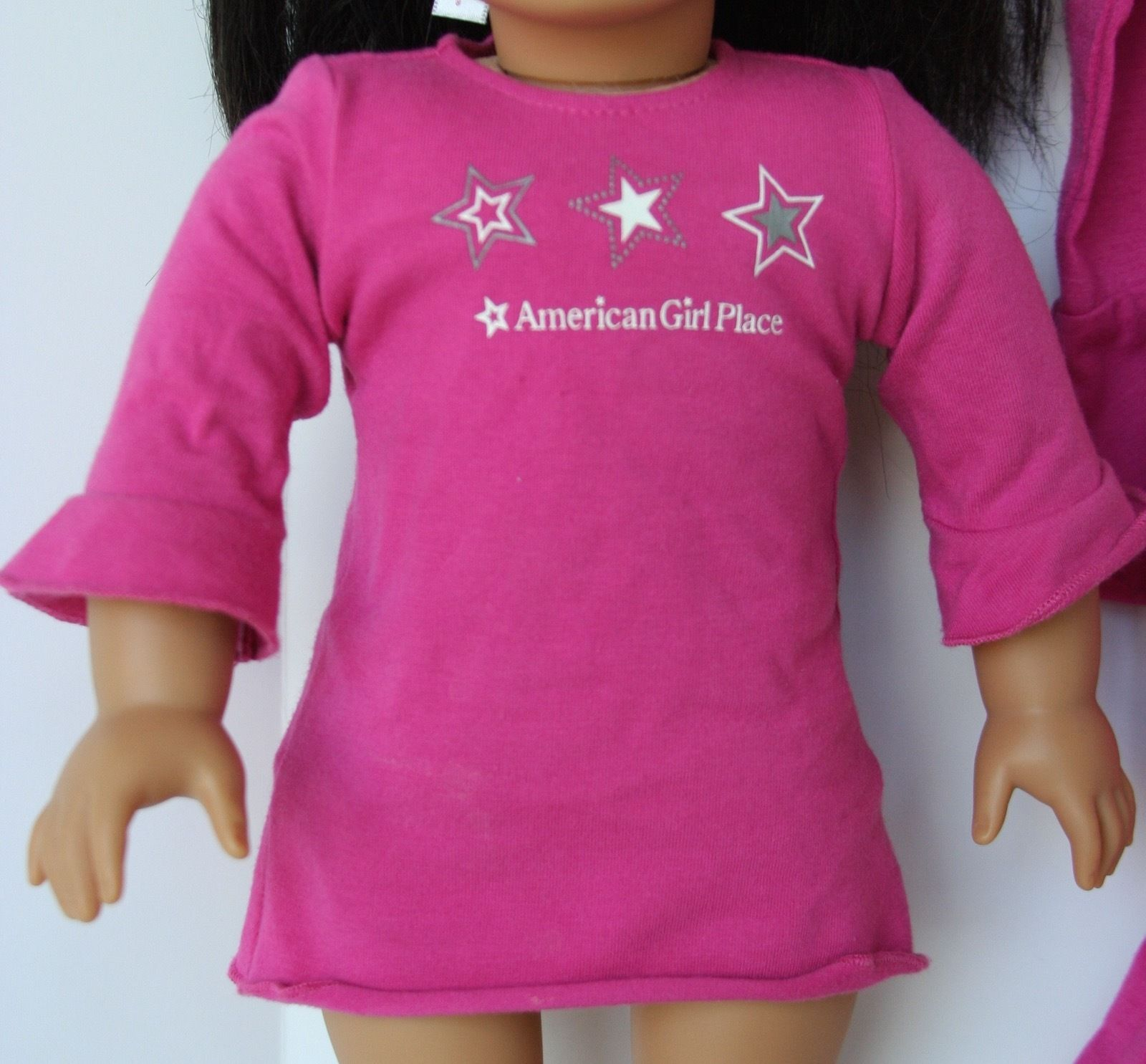"""Girl 6-10 and 18/"""" Doll Matching Pink Heart Black Leggings Outfit American Girl"""