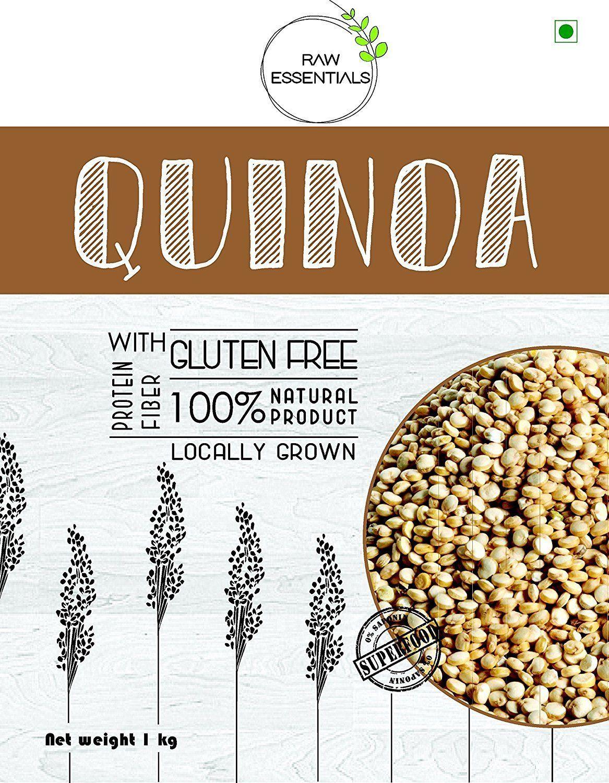 Raw Essentials gluten free Authentic White Quinoa 1kg (Premium Quality, Saponin