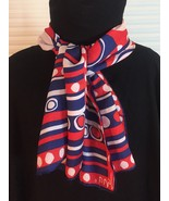 Vintage 60s Vera Neumann rectangular silk scarf (Red, White & Blue) - £23.57 GBP