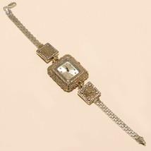 Women Emerald White Topaz Wrist Watch 925 Sterling Silver Valentine Jewe... - $41.37