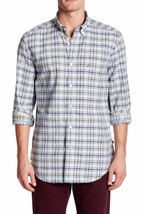NEW MENS NAUTICA LONG SLEEVE PLAID COTTON BUTTON FRONT SHIRT $69 - $27.99