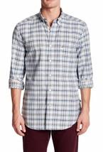 NEW MENS NAUTICA LONG SLEEVE PLAID COTTON BUTTON FRONT SHIRT $69 - $27.99