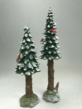 Department 56 Accessory Towering Pines Set of 2 Polyresin Retired Villag... - $13.85