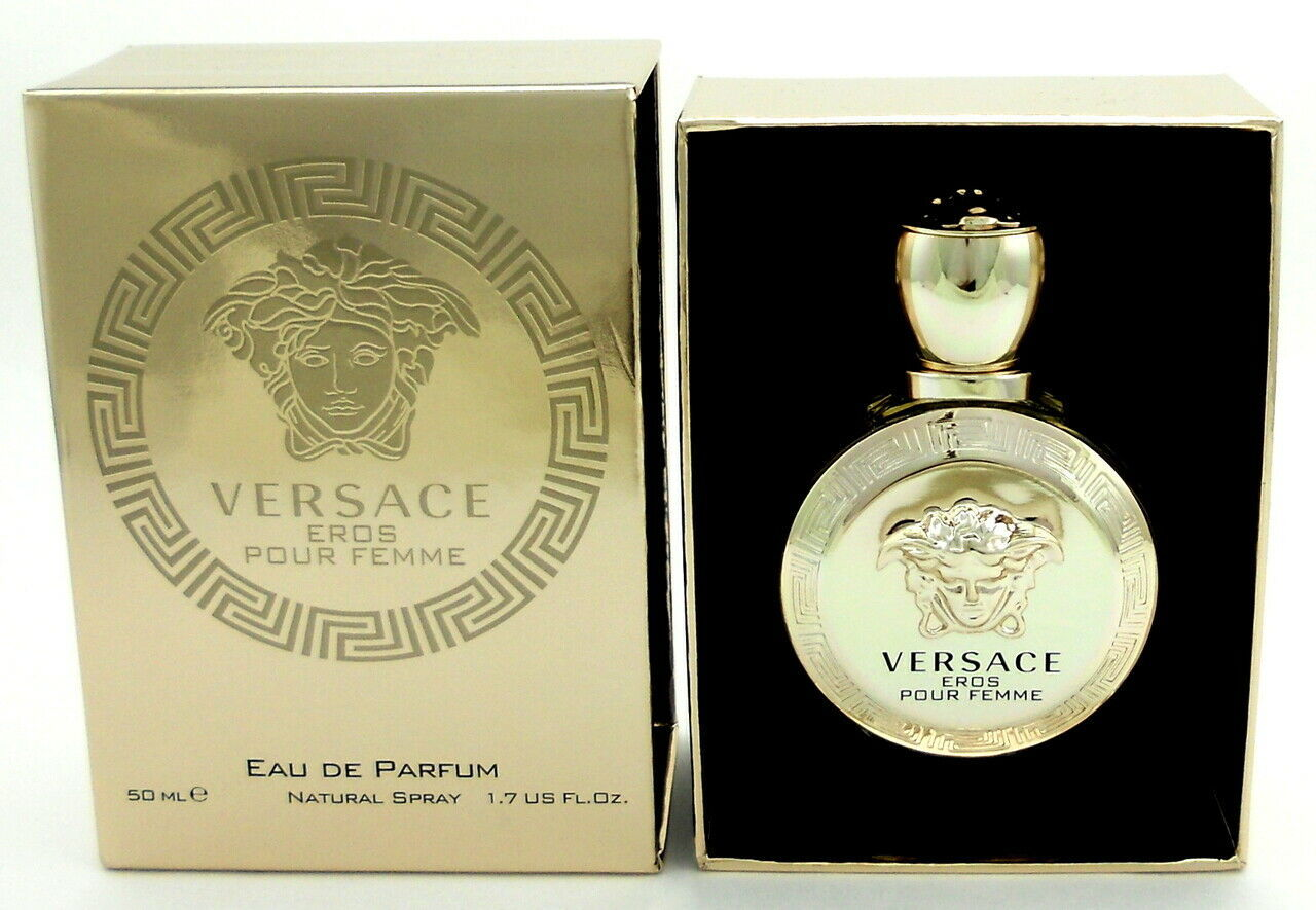 Primary image for NEW VERSACE EROS POUR FEMME WOMEN PERFUME EDP SPRAY 1.7 OZ 50 ML NEW IN BOX