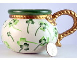 Vintage ceramic shamrock mug gold rope handle 1 thumb155 crop