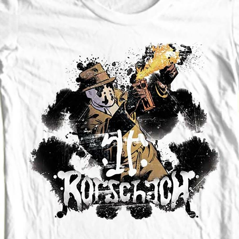 Rorschach The Watchmen T-shirt  DC Comics graphic novel 1980s graphic tee WBM260