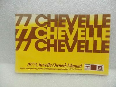 1977 CHEVELLE  Owners Manual 16061