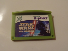RARE  LEAPSTER LEAP FROG GAME   STAR WARS JEDI READING  GREAT SHAPE WORK... - $23.99
