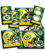 GREEN BAY PACKERS TEAM LIGHT SWITCH WALL PLATE OUTLET LIVING BOYS ROOM M... - $8.09+