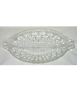 Anchor Hocking Cut Fan Pattern #4570 2-Part Relish Dish - $9.85