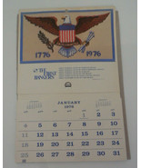VTG 1976 FIRST BANKERS CALENDAR VERO POMPANO BROWARD INDIAN RIVER FLORIDA - $9.49