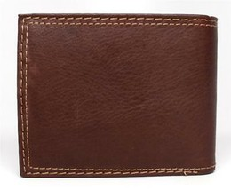 NEW LEVI'S MEN'S PREMIUM LEATHER CREDIT CARD ID WALLET BILLFOLD BROWN 31LV1344 image 2