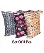 Set Of 3 Pcs -Wet Bags/ Nappy Bag, Reusable Washable & Waterproof Bag. - $24.00