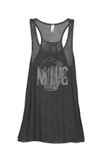 Thread Tank Mug Glass Sketch Women's Sleeveless Flowy Racerback Tank Top... - $24.99+