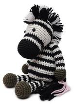 Black-White Zebra Handmade Amigurumi Stuffed Toy Knit Crochet Doll VAC - $23.76