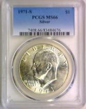 1971-S Silver Eisenhower Dollar PCGS MS-66 - £63.44 GBP