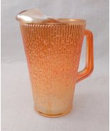 Jeannette Glass PITCHER Marigold Tree Bark Iridescent CarnivalGlass - $20.00