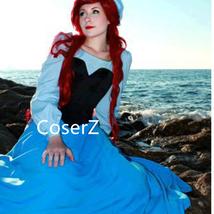 Custom Princess Ariel Blue Dress, The Little Mermaid Ariel Cosplay Costume - $99.00