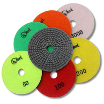 "Kent 7 pcs 5"" WET Diamond Polishing 3mm Thick Pads, Standard Quality - $41.38"