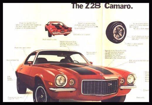 Chevy Camaro Brochure Lot: 1972 1974 1975 1976, 4 pcs, Xlnt Original Z28