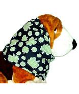 Green Black Shamrocks Within Shamrocks Cotton Dog Snood Size Puppy SHORT - $9.50