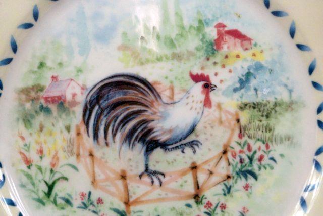 Lenox Provencal Garden Rooster Salad Plate image 2