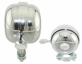 ORIGINAL Bicycle Steel Bolt-On Bell w/ Lever 55MM in Chrome - $14.25