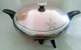 Mid Century Atomic Flying Saucer Buffet Server Pan Cory Party Chef - $49.49