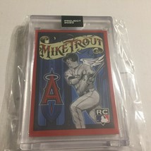 Topps Project 2020 Los Angeles Angels Mike Trout #400 Limited Print in H... - $29.95