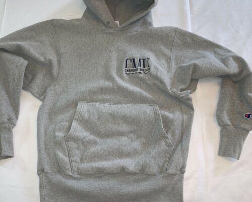 Vintage Carnegie Mellon Tartans Champion Reverse Weave Hoodie Sweatshirt Sz M image 2