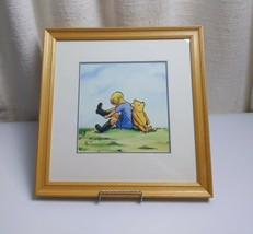 """Disney Classic Pooh with Christopher Robbins  Picture Art 15""""x15"""" include frame - $24.74"""