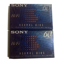 Sony HiFi 60 Min Type 1 Normal Bias For Music & Voice Cassette. 2 pack - $6.48