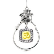 Inspired Silver OM Yoga Classic Snowman Holiday Decoration Christmas Tree Orname - $14.69