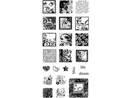 Inkadinkado Flourishes Clear Stamp Set #98772