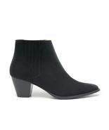 Vegan Ankle Boot Chelsea Western Cuban Chunky Heel Elastic Black Casual ... - $126.90