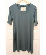 CUPIO Blush Teal Aqua Dress Sz M Tunic Stretch  - $21.75
