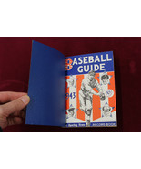 1943 The Sporting News Baseball Guide Record Book With Custom Cover NRMT++ - $59.39