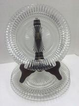 "1940's Jeannette Glass Anniversary 8.5 "" Sandwich 3 Plates - $6.53"