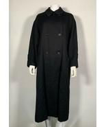 Burberry Coat Wool Midi Black Double Breasted Peacoat Women Sz 10 - $299.99